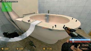 CS Source - Zombie Escape Mod - ze_Bathroom_v2_5s
