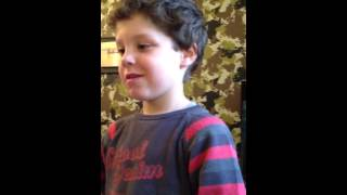 Little french boy trying to speak english