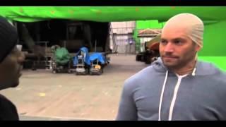 LOL: Paul Walker Imitates Vin Diesel On The Set Of