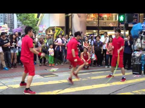 Jump rope in the streets of Hong Kong