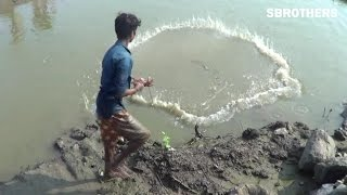 Amazing Fishing at Village - India Traditional Fishing - How to Catches Fish (Part 03)