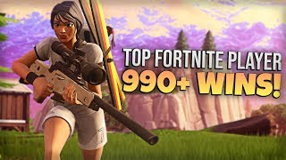 TOP FORTNITE PLAYER // 990+ WINS // PRO FORTNITE PLAYER