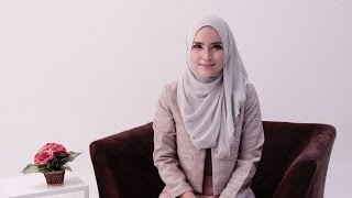 Hijab Tutorial Office Look by Zahratul Jannah
