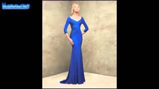 V yaka abiye elbise modelleri 2016