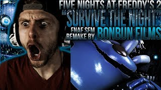 Vapor Reacts #611 | [SFM] FNAF 2 SONG ANIMATION Survive The Night Remake by BonBun Films REACTION!