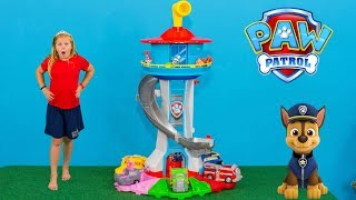 PAW PATROL  My Size Lookout Tower with Chase and Marshall