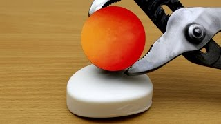 EXPERIMENT Glowing 1000 degree METAL BALL vs SOAP