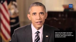 President Obama -  Feb 6th, 2016 - video caption -  Address Challenge of Climate Change