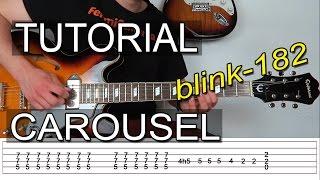 Como Tocar Carousel de blink 182 - Tutorial Guitarra TAB - FermiGuitarra