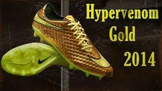 Nike Hypervenom Gold New Neymar Boots Pes 2014