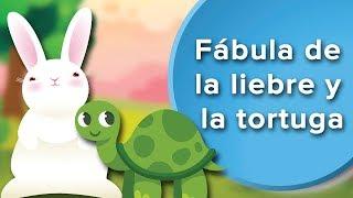 Fábula de la liebre y la tortuga para niños    Fábula con subtítulos