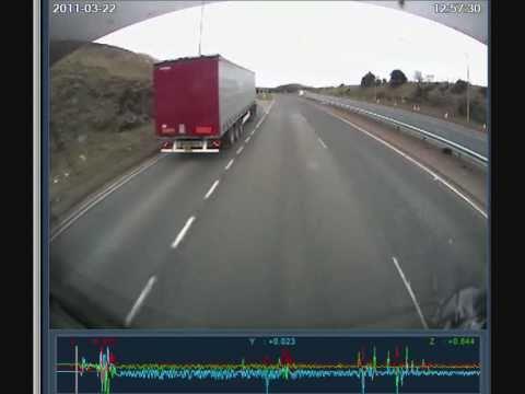 LORRY CRASH A90 ABERDEEN LIVE ON BOARD TRUCK CAM
