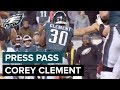 Corey Clement 'Our Backs Are Still Against the Wall' | Eagles Press Pass