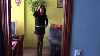 Patricia crossdresser Black Short Dress