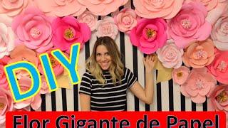 DIY: Flor Gigante de Papel