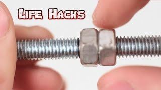 5 Awesome Life Hacks for Nut or Bolt | HieuCoi87
