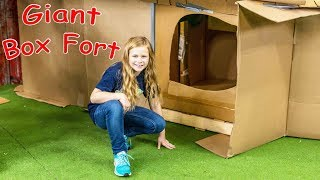 A Super Huge 2 Story Box Fort and the Assistant Plays Hide n Seek with PJ Masks