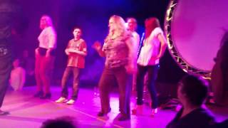 Fat, drunk lady dancing