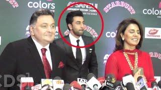 Ranbir Kapoor Embarrassed Of Father Rishi Kapoor At Stardust Awards 2016