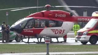 💚München DRF Helikopter muß 8Min in der Luft warten da Polizei zu spät ist zur Landeplatzabsicherung
