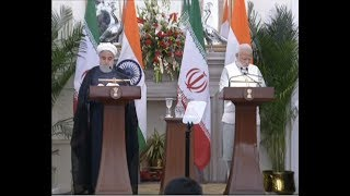 Press Statement by PM Modi during state visit of President of Iran Hassan Rouhani