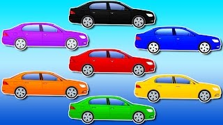 Learn Colors with Cars - Paint Cars and Learn Colors - Car Cartoon for Kids