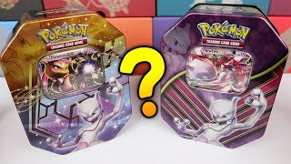 OLD vs NEW MEWTWO EX TINS! Surprising packs Pokemon Card Opening