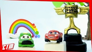 """PISTON CUP RACE"" Lightning McQueen vs Chick Hicks PLAY*DOH Stop Motion Animation Disney/Pixar"