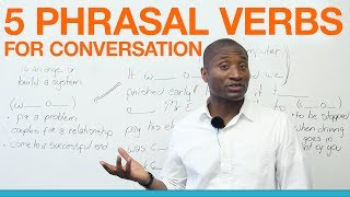 5 conversation phrasal verbs you need to know