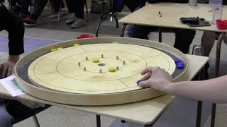 Ridiculous Crokinole Shot - Slater Double Takeout and 20