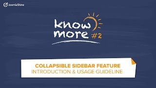 Know more #2 - Hiding the admin sidebar