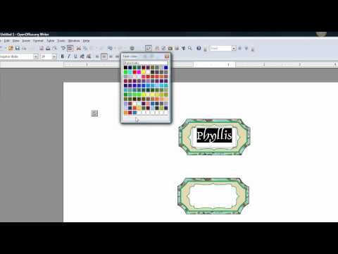 How to add text INTO an image OpenOffice