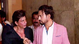 Shahrukh Khan spotted at special screening of Irrfan Khan's MADAARI.