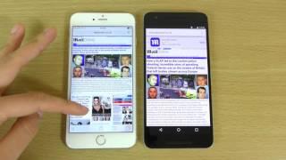 Nexus 6P Marshmallow 6.0.1 VS iPhone 6S IOS 9.2.Review
