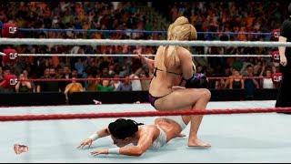 Natalya Vs Tamina - Bikini Barefoot Falls Anywhere Match  | WWE 2K18 | WWE 2K17 Bikini match