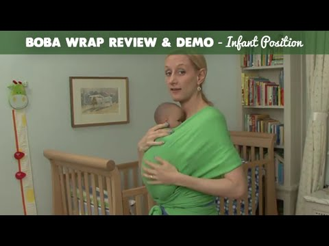 Boba Stretchy Wrap Review and Demo - Infant Position | CloudMom