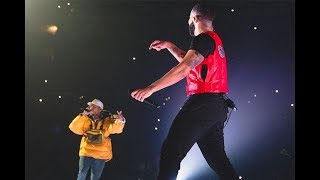 Drake brings out Chris Brown on stage in LA