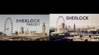 Sherlock Parody Hillywood side-by-side comparison