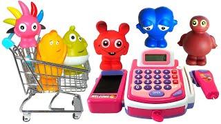 Babblarna i affären film - Babblarna handlar tokiga saker i affären och busar och lär sig färger