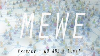 NEXT GEN SOCIAL NETWORK - MEWE - No Ads, No Algorithms and Perfect Privacy!
