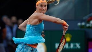 2017 Mutua Madrid Open Semifinals   Kristina Mladenovic vs Svetlana Kuznetsova   WTA Highlights