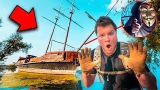 FOUND THE GAME MASTERS HIDEOUT! ABANDONED PIRATE SHIPWRECK