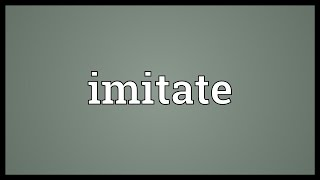 Imitate Meaning