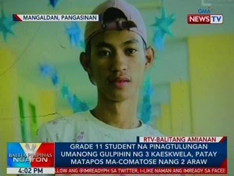 Xxx Mp4 BP Grade 11 Student Na Pinagtulungan Umanong Gulpihin Ng 3 Kaeskwela Patay Matapos Ma Comatose 3gp Sex
