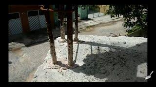 Como prender a coluna no concreto sem as ferragens de espera