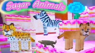 Cookieswirlc Plays Minecraft Candy Sugar Land Gaming Cake World Sugar Animals Fantasy Video