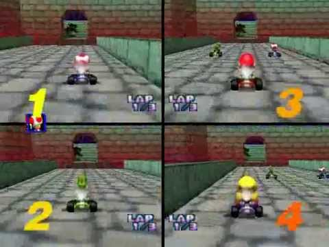 Mario Kart 64 4 CPU All Cup