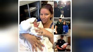 Police Officers Deliver Baby In Parking Lot When Mom Can't Make It To Hospital