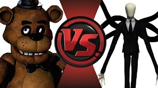 FREDDY FAZBEAR vs SLENDERMAN! Cartoon Fight Club Episode 14!