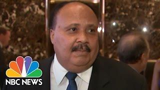 Martin Luther King III Visits Donald Trump At Trump Tower | NBC News